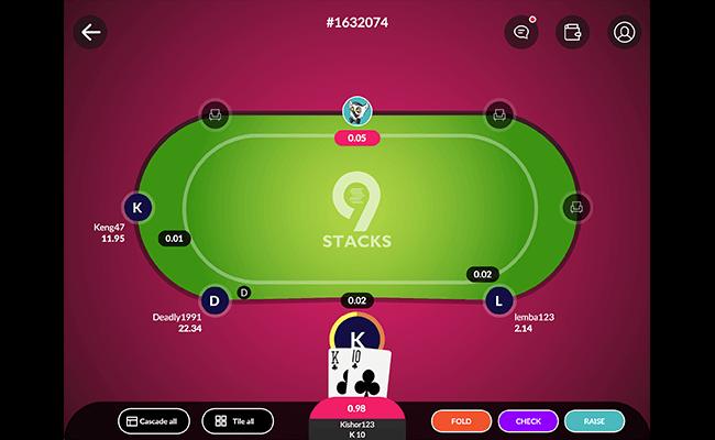 9stacks poker game table
