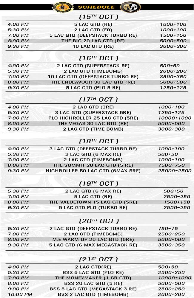 PPL Autumn Edition Schedule