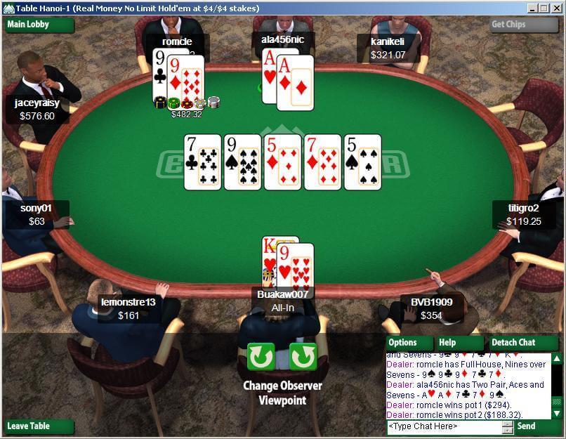 Everest Online Poker Table