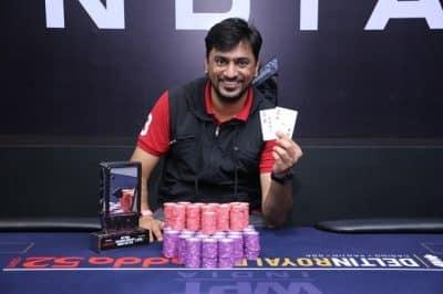 Winner of 2018 WPT India ₹20K Megastack Turbo - Siddarth Singhvi