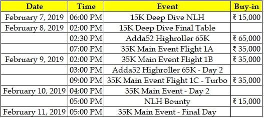 2019 DPT Schedule