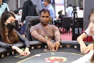 Rajesh Sabapathy at the APL Hanoi VN₫ 43,000,000 High Roller