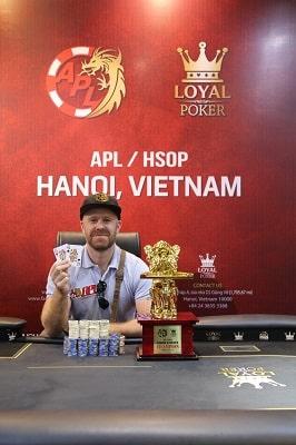 Sam Beesley - Winner of APL Hanoi Main Event