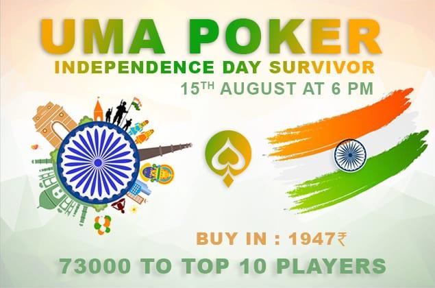 UMA Poker Independence Day Survivor