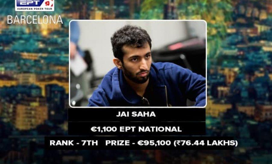 Jai Saha finishes 7in EPT Barcelona National