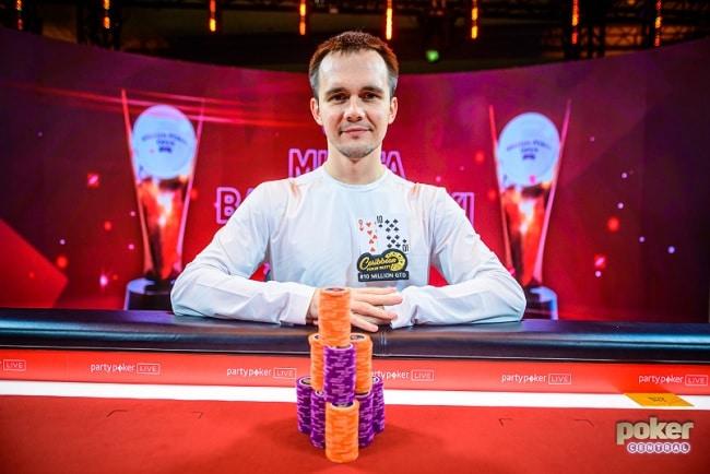 Mikita Badziakouski wins £50K NLH Cover
